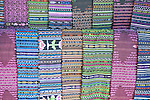 Latin America, Guatemala, Western Highlands, Santiago de Atitlan, Textiles For Sale