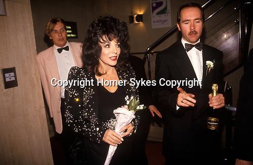 Joan Collins 1990s UK. Attends a film premier in Birmingham 1995