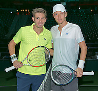 13-02-14, Netherlands,Rotterdam,Ahoy, ABNAMROWTT, Tomas Berdych(TSJ) and Nicolas Mahut(FRA)<br /> Photo:Tennisimages/Henk Koster