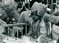 religiöser Umzug, Indien 1974