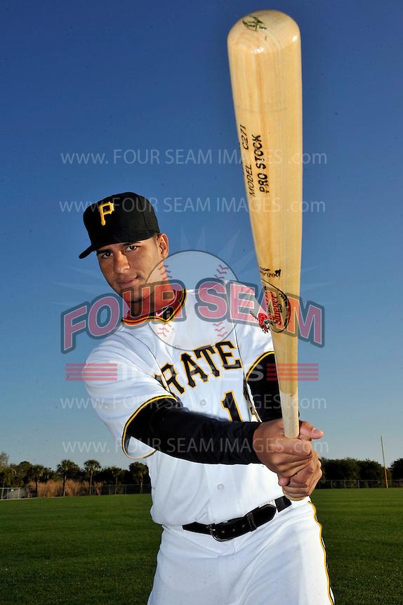 Feb 28, 2010; Bradenton, FL, USA; Pittsburgh Pirates  infielder Ronny Cedeno (13) during  photoday at Pirate City. Mandatory Credit: Tomasso De Rosa/ Four Seam Images