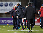 Dundee v St Johnstone….31.12.16     Dens Park    SPFL<br />Paul Hartley shakes hands with Tommy Wright at full time<br />Picture by Graeme Hart.<br />Copyright Perthshire Picture Agency<br />Tel: 01738 623350  Mobile: 07990 594431