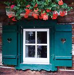 Austria, Tyrol, Stubai Valley: flower decorated window