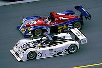 #20 Dyson Riley and the #30 Intersport Lola..2002 Rolex 24 at Daytona, Daytona International Speedway, Daytona Beach, Florida USA Feb. 2002.(Sports Car Racing)