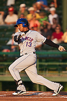 Juan Lagares  #13 of the St. Lucie Mets during a game against the Daytona Cubs at Jackie Robinson Ballpark on May 25, 2011 in Daytona Beach, Florida. (Scott Jontes / Four Seam Images)