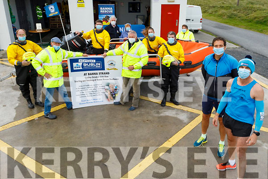 Launching the Banna Sea and Rescue fundraising Dublin Virtual Marathon, which will take place on Sunday October the 25th at the boat house.  Front right:  Myses Olalee and John O'Sullivan.<br /> Front l to r: John Sheehan, Thomas Fitzgerald, Pat Lawlor and Thomas Ward. <br /> In the boat: Noel Buckley and Alex Ledich.<br /> Back l to r: Steve and Linda Baker and Brenda O'Connor.