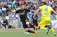 Roma s Stephan El Shaarawy, left, is challenged by Chievo Verona s Nicola Rigoni during the Italian Serie A football match between Roma and Chievo Verona at Rome's Olympic stadium, 28 April 2018.<br /> UPDATE IMAGES PRESS/Riccardo De Luca