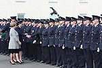 Attending the Garda graduations in Templemore on Thursday were the Minister for Justice Frances Fitzgerald meeting the graduates as Garda Commissioner Nóirín O'Sullivan hands out their Garda id cards.<br />  Photograph Liam Burke/Press 22