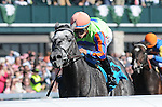 April 19, 2014:  Frac Daddy and jockey Alan Garcia win the G3 Ben Ali Stakes at Keeneland for owner Magic City Thoroughbred Partners and trainer Kenny McPeek .Jessica Morgan/ESW/CSM