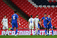 25th March 2021; Wembley Stadium, London, England;  Ollie Watkins England celebrates scoring his goal for 5:0 in minute 83 with his teammates during the World Cup 2022 Qualification match between England and San Marino at Wembley Stadium in London, England.