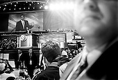 Boston, Massachusetts.USA.July 27, 2004..At the National Democratic Convention in Boston Barack Obama, State Senator from Illinois, U.S. Senate candidate addresses the crowd.