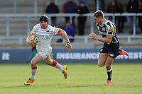 20130310 Copyright onEdition 2013©.Free for editorial use image, please credit: onEdition..Ben Ransom of Saracens in action during the LV= Cup semi final match between Sale Sharks and Saracens at the Salford City Stadium on Sunday 10th March 2013 (Photo by Rob Munro)..For press contacts contact: Sam Feasey at brandRapport on M: +44 (0)7717 757114 E: SFeasey@brand-rapport.com..If you require a higher resolution image or you have any other onEdition photographic enquiries, please contact onEdition on 0845 900 2 900 or email info@onEdition.com.This image is copyright onEdition 2013©..This image has been supplied by onEdition and must be credited onEdition. The author is asserting his full Moral rights in relation to the publication of this image. Rights for onward transmission of any image or file is not granted or implied. Changing or deleting Copyright information is illegal as specified in the Copyright, Design and Patents Act 1988. If you are in any way unsure of your right to publish this image please contact onEdition on 0845 900 2 900 or email info@onEdition.com