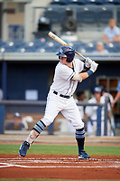 Charlotte Stone Crabs designated hitter Brendan McKay (31) at bat during a game against the Bradenton Marauders on August 6, 2018 at Charlotte Sports Park in Port Charlotte, Florida.  Charlotte defeated Bradenton 2-1.  (Mike Janes/Four Seam Images)