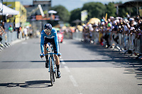 Alejandro Valverde (ESP/Movistar) rolling over the finish line<br /> <br /> Stage 13 (ITT): Pau to Pau (27km)<br /> 106th Tour de France 2019 (2.UWT)<br /> <br /> ©kramon