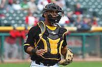 Luis Martinez (20) of the Salt Lake Bees on defense against the Memphis Redbirds at Smith's Ballpark on June 18, 2014 in Salt Lake City, Utah.  (Stephen Smith/Four Seam Images)