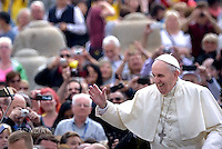 Pope Francis  during his weekly general audience in St. Peter square at the Vatican, Wednesday.May 11 2016.
