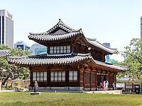 Alte königliche Halle Seogeodang im Palast Deoksugung in Seoul, Südkorea, Asien<br /> Old royal hall Seogeodang in palace Deoksugung, Seoul, South Korea, Asia