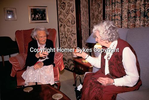 Residential Care Home for the elderly Rushcroft Nursing Home. UK. 1990s.