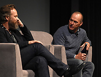 """NEW YORK CITY - OCTOBER 5: (L-R) Peter Sarsgaard and Michel Keaton attend a SAG Screening of Hulu's """"DOPESICK"""" at the Museum of Modern Art on October 5, 2021 in New York City. . (Photo by Frank Micelotta/Hulu/PictureGroup)"""