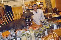 - truffle market in Alba, sale of chocolate products ....- mercato dei tartufi ad Alba, vendita di prodotti al cioccolato