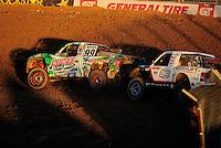 Nov. 5, 2011; Las Vegas, NV USA; LOORRS pro 2 unlimited driver Robby Woods (99) leads Rob Naughton (54)during round 13 at the Las Vegas Motor Speedway. Mandatory Credit: Mark J. Rebilas-US PRESSWIRE
