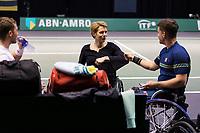 Rotterdam, The Netherlands,7 march  2021, ABNAMRO World Tennis Tournament, Ahoy,  <br /> Doubles Final Wheelchair: Alfie Hewett (GBR) / Gordon Reid (GBR) vs. Tom Egberink (NED) / Maikel Scheffers (NED).<br /> Photo: www.tennisimages.com/henkkoster