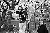 I Love Jesus T shirt.  Evangelical Christian preacher, Speakers' Corner, Hyde Park, London.