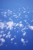 Clouds photographed out airplane window<br />