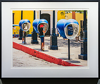 """Mobile Alternative, Trinidad, Cuba <br /> <br /> Signed, Limited Edition Giclee print on fine art paper.<br /> <br /> Image size 15""""h x 20""""w on 17"""" x 25"""" sheet. Framed size 21""""h x 26.5""""w. Nielsen 117 Matte Black frame with non-glare acrylic glazing.  <br /> <br /> $700.  Available thru Beacon Gallery."""