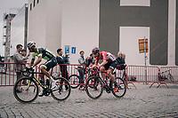 Kevyn Ista (BEL/WB Veranclassic - Aquality Protect) & Jurgen Roelandts (BEL/Lotto-Soudal)<br /> <br /> 2017 National Championships Belgium - Elite Men - Road Race (NC)<br /> 1 Day Race: Antwerpen > Antwerpen (233km)