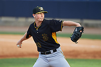 Bradenton Marauders starting pitcher Mitch Keller (38) delivers a pitch during the first game of a doubleheader against the Tampa Yankees on April 13, 2017 at George M. Steinbrenner Field in Tampa, Florida.  Bradenton defeated Tampa 4-1.  (Mike Janes/Four Seam Images)
