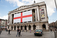 Nottingham City Council offices all decked out for St George's Day