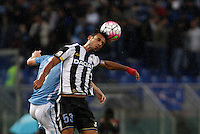 Calcio, Serie A: Lazio vs Udinese. Roma, stadio Olimpico, 13 settembre 2015.<br /> Udinese's Ali Adnan heads the ball during the Italian Serie A football match between Lazio and Udinese at Rome's Olympic stadium, 13 September 2015.<br /> UPDATE IMAGES PRESS/Isabella Bonotto