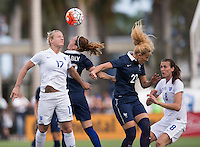 Boca Raton, FL - March 9, 2016: England tied France 0-0 in the SheBelieves Cup at FAU Stadium.