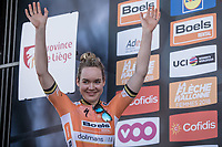 On podium as a Winner > Anna van der Breggen (NED/Boels Dolmans)<br /> <br /> <br /> 21st La Flèche Wallonne Femmes <br /> 1 day race: Huy - Huy (118,5KM)