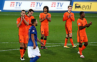 Netherlands' players applaud at the end of the UEFA Nations League football match between Italy and Netherlands at Bergamo's Atleti Azzurri d'Italia stadium, October 14, 2020.<br /> UPDATE IMAGES PRESS/Isabella Bonotto