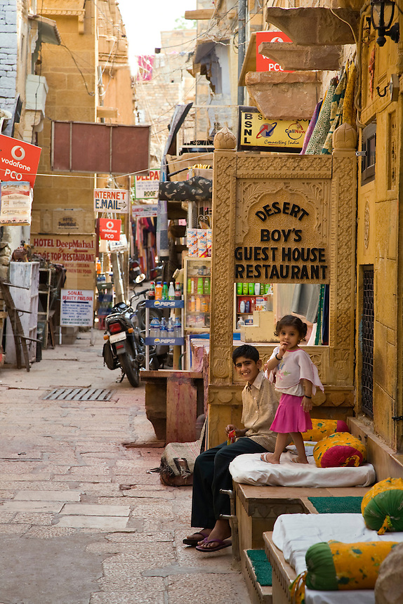DESERT BOYS GUESTHOUSE and RESTAURANT is inside the JAISALMER FORT - RAJASTHAN, INDIA