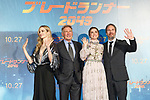 (L to R) Actress Sylvia Hoeks, actor Harrison Ford, actress Ana de Armas and director Denis Villeneuve pose for the cameras during a Japan Premiere for the film Blade Runner 2049 on October 24, 2017, Tokyo, Japan. Cast of the film Blade Runner 2049 greeted the fans at the event. The movie Japanese theaters on October 27. (Photo by Rodrigo Reyes Marin/AFLO)