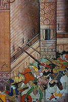 "Mughal India:  ""A Fortress Under Siege""--detail.  C. 1596."