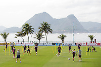 England manager Roy Hodgson watches his team warm up