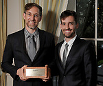"Winner Ben Koush and his husband Luis De Las Cuevas at Preservation Houston's ""The Cornerstone Dinner""  presenting the 2018 Good Brick Awards at the River Oaks Country Club Friday March 02,2018. (Dave Rossman Photo)"