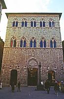 Siena:  Palazzo Tolomei, XIII century.  Photo '83.