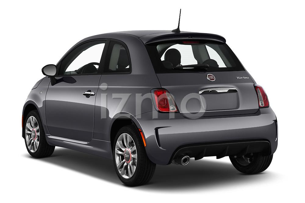 Car pictures of rear three quarter view of 2019 Fiat 500 Pop 3 Door Hatchback Angular Rear