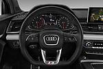 Car pictures of steering wheel view of a 2018 Audi SQ5 Premium Plus 5 Door SUV