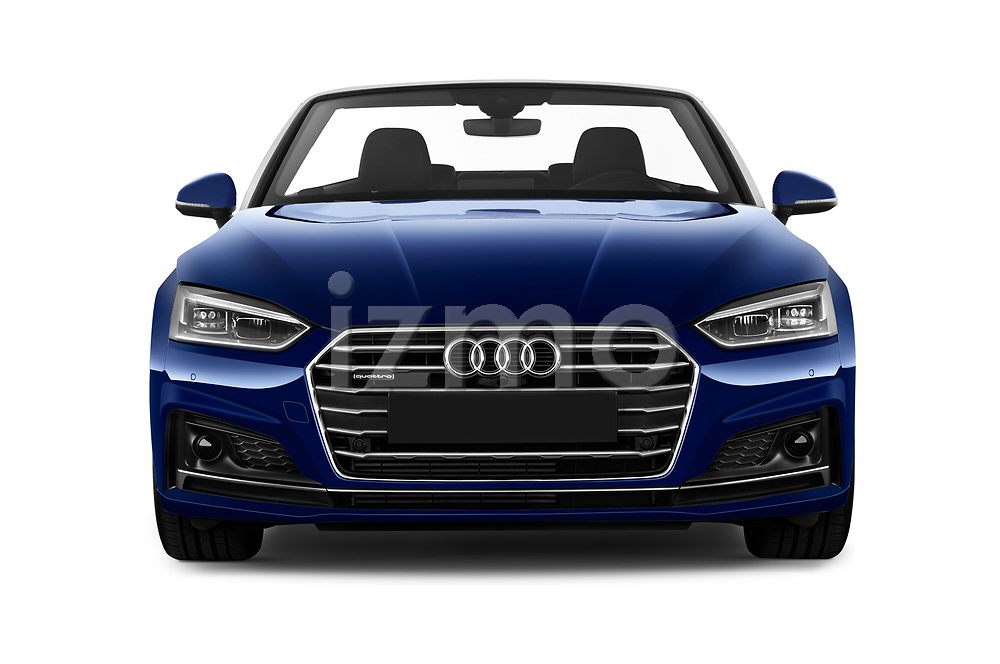 Car photography straight front view of a 2017 Audi A5 Sport 2 Door Convertible Front View