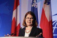 Jane Philpott, <br /> Minister of Health, Canada attend the 22nd edition of the Conference of Montreal, held June 13 to 15, 2016<br /> <br /> PHOTO : Pierre Roussel -  Agence Quebec Presse