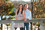 Portrait of a young couple on a bridge in Lake Arrowhead, CA
