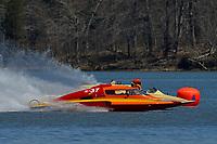 """E-37 """"Hire Voltage"""" (L-current raceboat) and E-37 """"Hire Voltage"""" (R-Vintage raceboat)"""