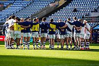 22nd November 2020; Ricoh Arena, Coventry, West Midlands, England; English Premiership Rugby, Wasps versus Bristol Bears; Bristol huddle in the warm-up before the game