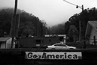 """War, WV, October 25 2008.""""West Virginia Southernmost city"""", War is a small coal miners' town, hit hard by the economic crisis; many of its inhabitants will vote for Obama as McCain is perceived to be the man from the oil companies, trying to destroy the coal mining industry."""